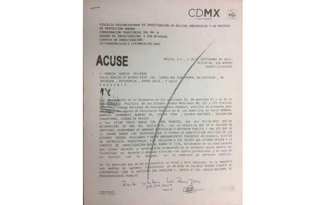 Dueña de Colegio Rébsamen sí recibió citatorio y no se presentó