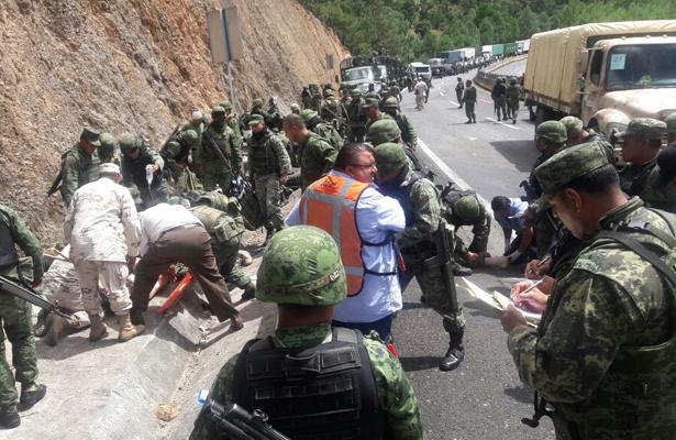 Dos muertos y 7 heridos deja accidente en Maravatío, Michoacán