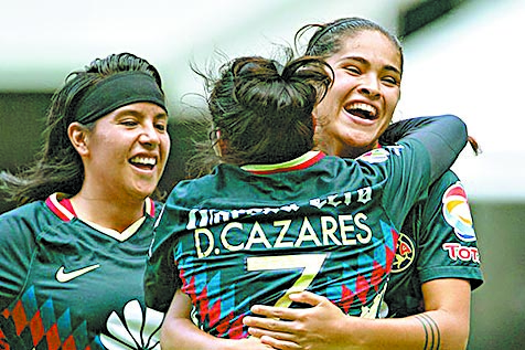 América y Tigres propinan goleadas en la liga femenil