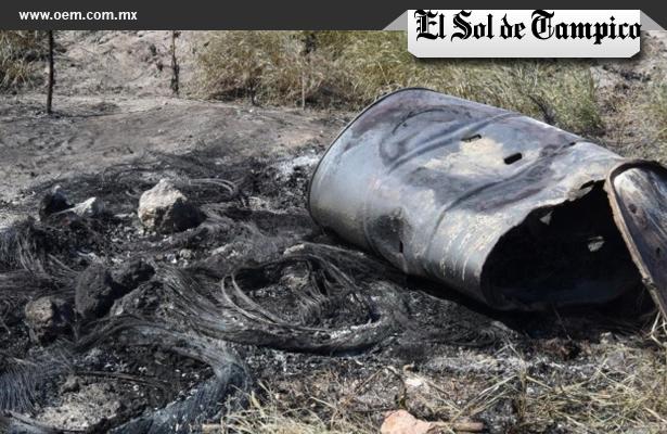 Hallan restos humanos calcinados en Tampico