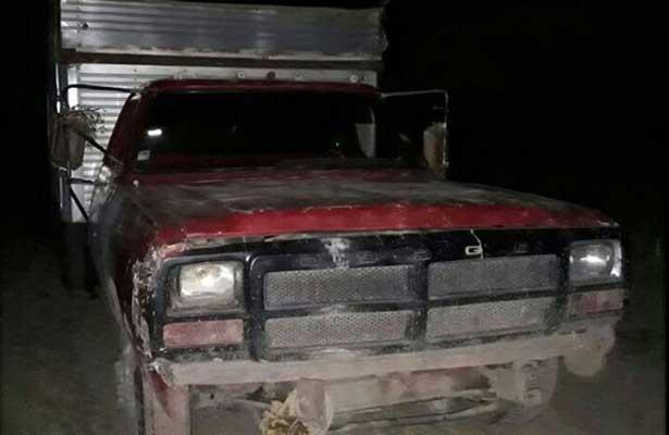 Aseguran camión huachicolero en Axapusco
