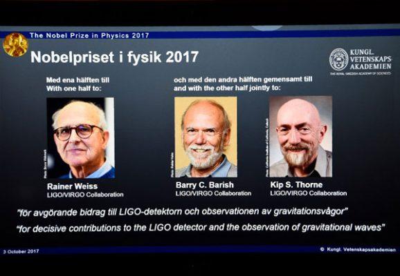 Galardona Nobel de Física  a científicos por detectar ondas gravitacionales