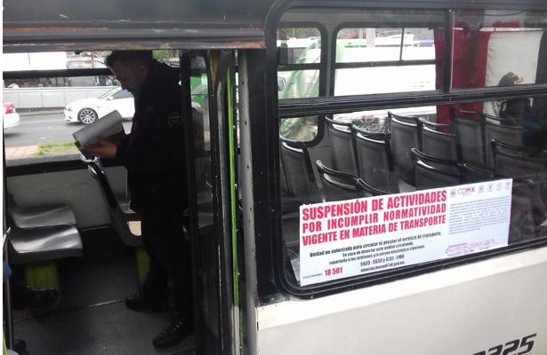 Sanciona Semovi a 34 unidades de transporte público