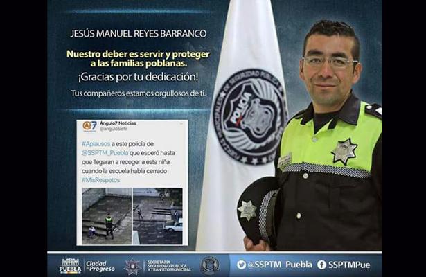 Policía es reconocido por su ardua dedicación