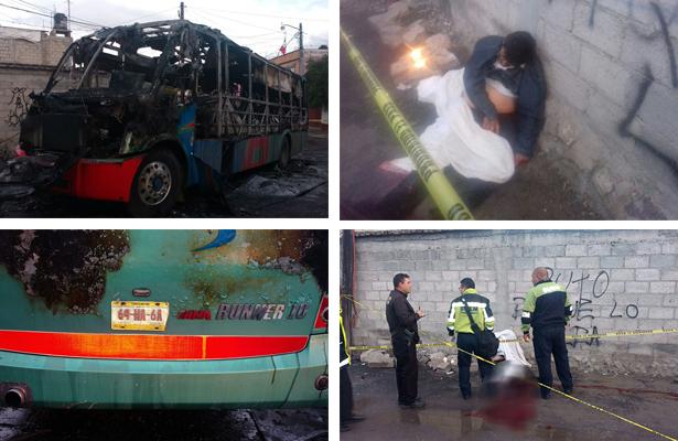 Asesinan a chofer y queman su camión en el Edomex