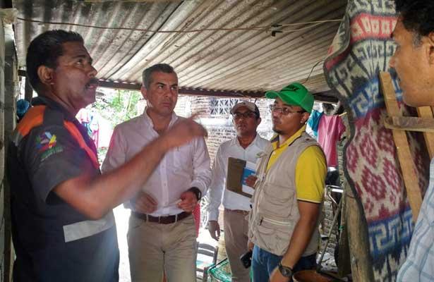 Recorre Sedatu casas afectadas en Guerrero