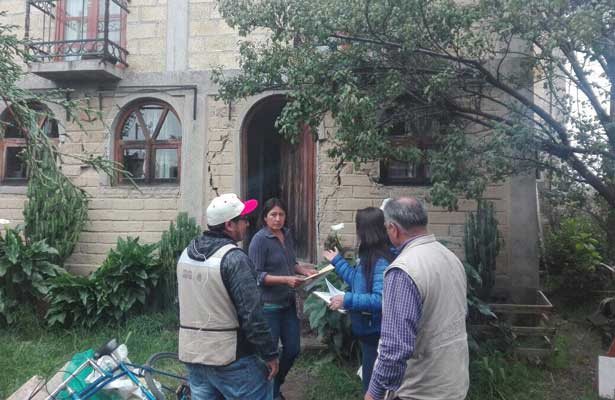 Continúa la Sedatu con el censo de viviendas en Edomex tras sismo