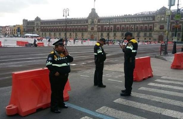 Calles principales del Zócalo estarán cerradas a la circulación vehicular