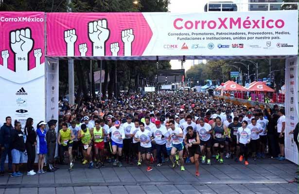 Corren por México más de 6 mil personas
