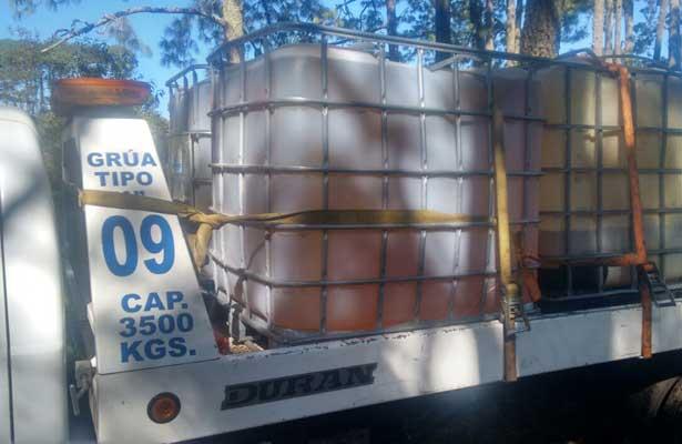 Detienen a 15 huachicoleros con combustible robado en Cuatepec, Hidalgo