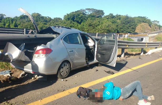 Trágico accidente deja un muerto y tres heridos, en Veracruz