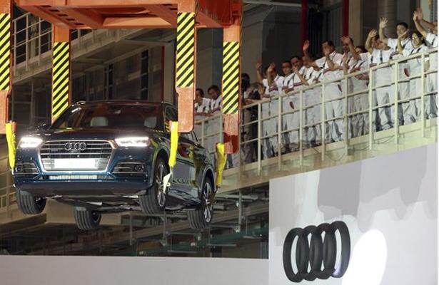 Por robo en planta de Audi en Puebla, detienen a cuatro sujetos