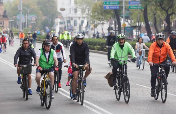 Mañana, paseo dominical Muévete en Bici en la Ciudad de México