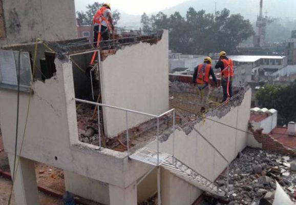 Continúan trabajos de demolición en Coquimbo 911