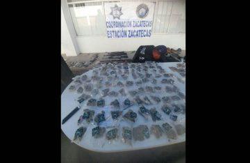 Policía Federal decomisa 12 armas largas y cortas en Zacatecas