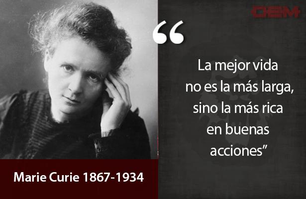 Lo dijo así Marie Curie