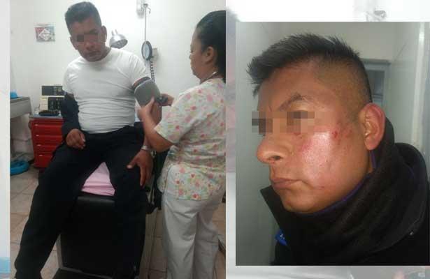 Golpean a policía en el Metro Cd. Azteca