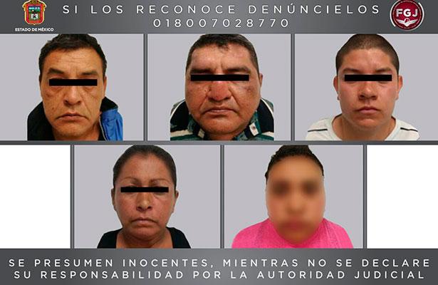 Detiene fiscalía estatal a cinco personas investigadas por el secuestro de una mujer en Chicoloapan