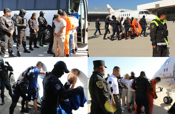 Trasladan a reos de alta peligrosidad del Edomex  a penales federales