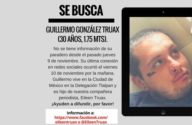 Ayudemos a compartir y hallarlo. Es Guillermo González Truax