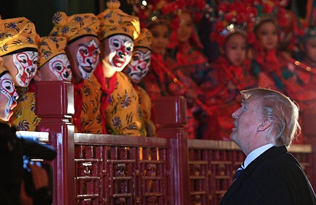 Trump prosigue en China su cruzada contra Corea del Norte