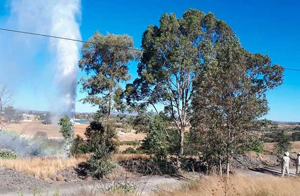Mega derrame de hidrocarburo en Aculco