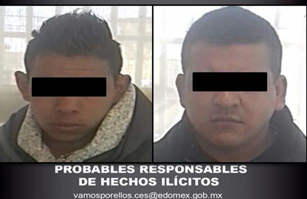 Detienen a dos por probable delito de robo con violencia