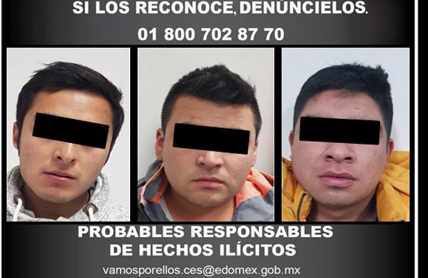 Detienen a tres probablemente vinculados por robo de vehículos de servicio UBER