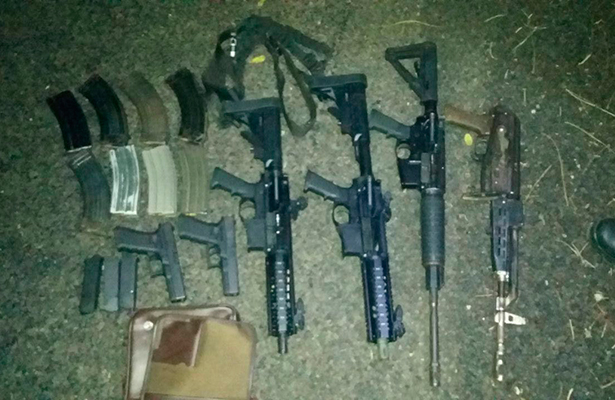 Localiza la policía vehículo con armas en Tuxtepec