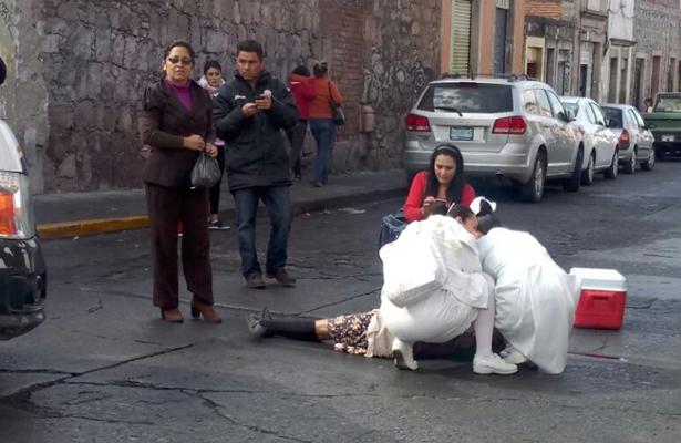 Le arrancan la vida tras ser arrollada en el Centro de Morelia