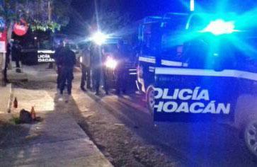 Un muerto por balacera en Uruapan