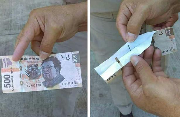 ¡Aguas! con los billetes falsos