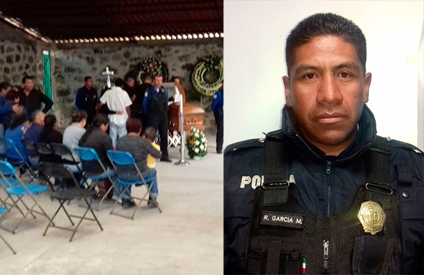 Le rinden homenaje a policía asesinado por delincuentes