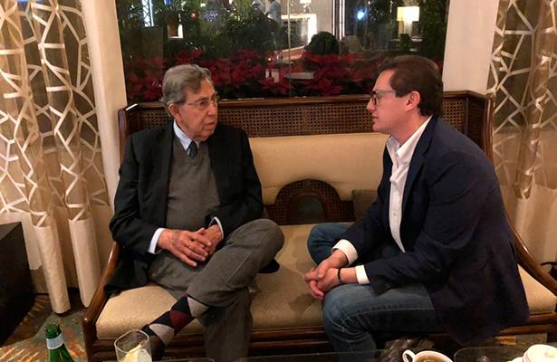 Se Reúne Salomón Chertorivski con el Ingeniero Cuauhtémoc Cárdenas