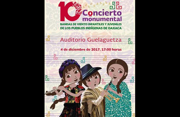 Indígenas de Oaxaca participarán en Concierto Monumental de Bandas de Viento