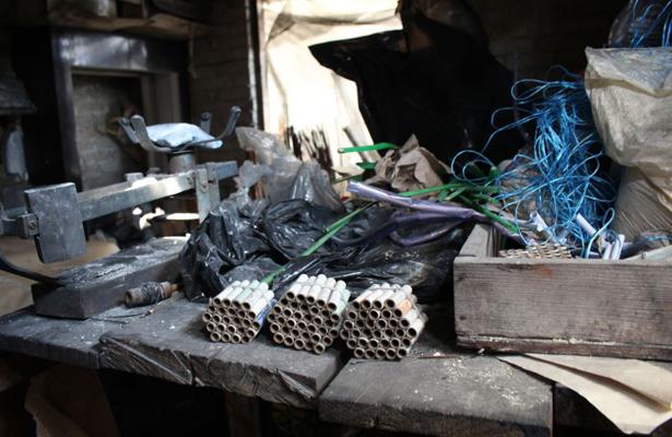 Decomisan cohetes en Iztapalapa