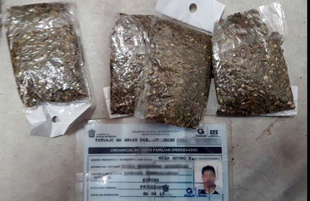 Los atrapan al intentar introducir drogas a penales mexiquenes