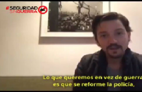 Diego Luna se pronuncia en contra de la Ley de Seguridad Interior