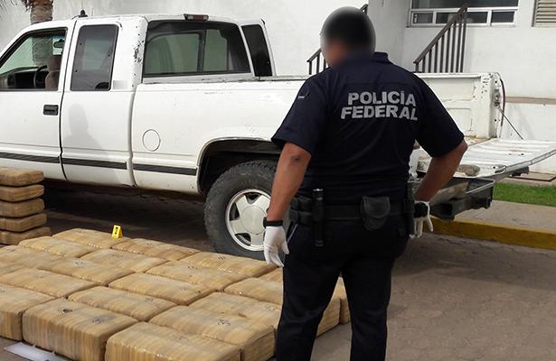 En Ensenada la PF asegura más de 400 kilos de aparente marihuana