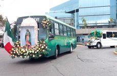 Camioneros muestran su fervor Guadalupano