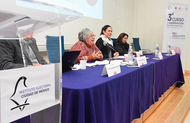 Realiza IECM 3er Curso de Observacional Electoral Subnacional, Proceso Electoral Ordinario 2017-2018
