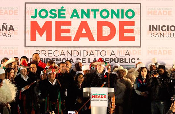 José Antonio Meade inició precampaña en Chiapas