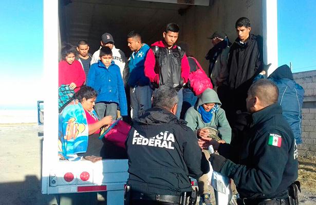 Rescata la Policía Federal a migrantes