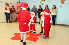 Con Festival de Navidad inician vacaciones niños del Cendi en Femenil Santa Martha
