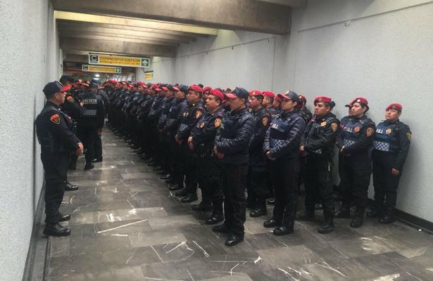 En marcha operativo navideño contra robos, ambulantaje y suicidios, en Metro