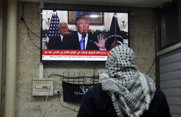 Palestinos comienzan tres días de ira en protesta a la decisión de Trump