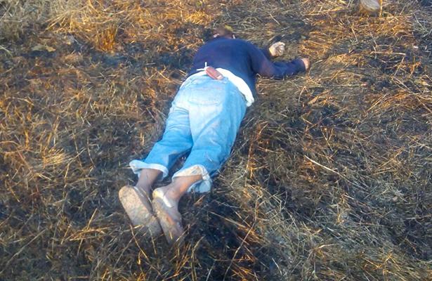 Tiran cadáver de hombre en potrero de Misantla