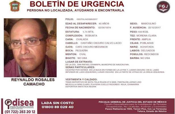 Ayuda a encontrar a Reynaldo Rosales Camacho