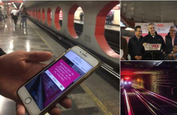 Accederán usuarios del metro de CDMX a internet gratuito en Línea 7