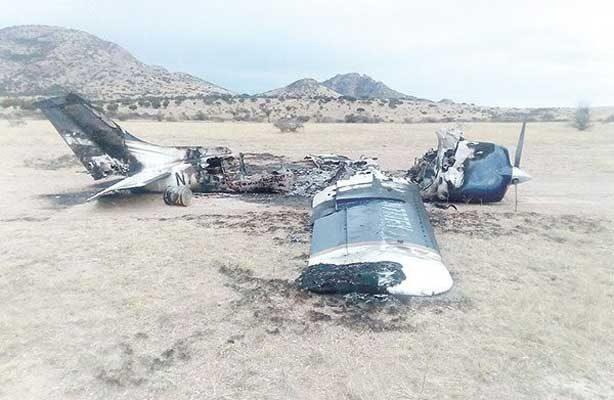 Se desplomó la avioneta con droga en Chihuahua